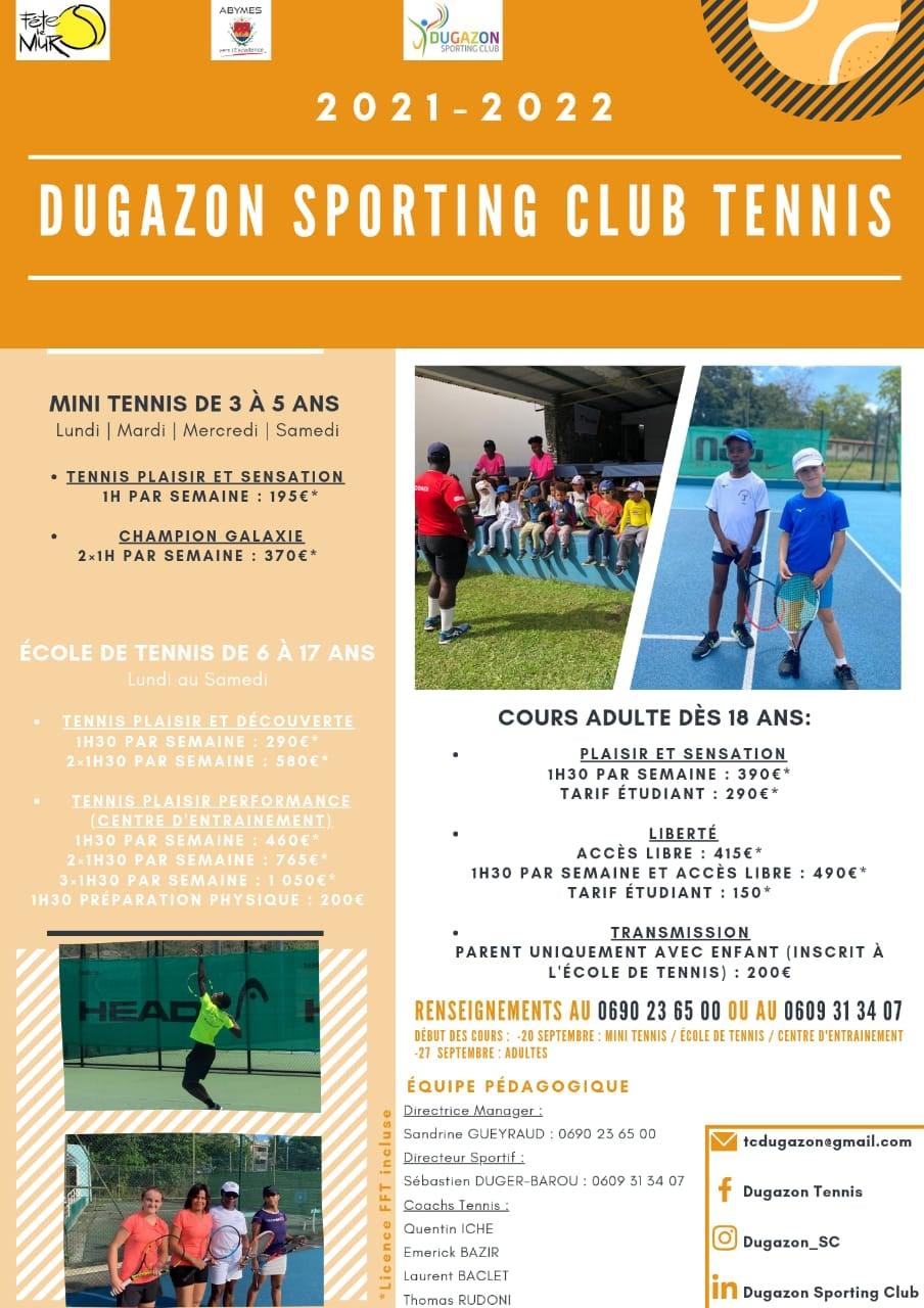 TENNIS ET CLSH – ABYMES – Dugazon Sporting Club tennis