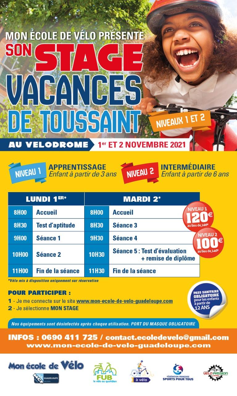 Vacances de la Toussaint à Vélo – Baie-Mahault- A partir de 6 ans
