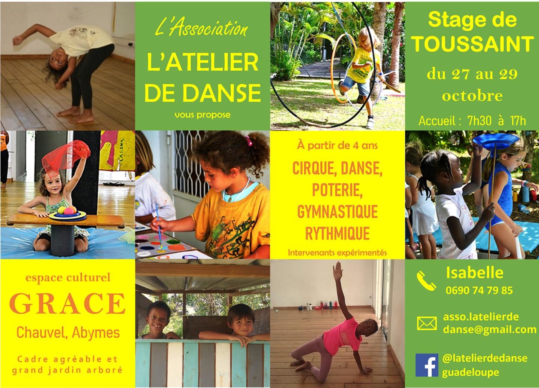 Stage vacances de la Toussaint aux Abymes
