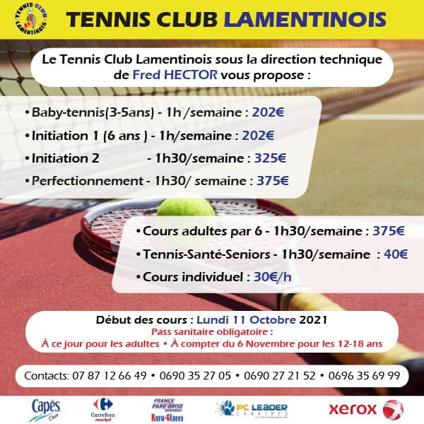 Tennis enfant – Lamentin